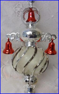 Vintage USA Carillon Spire Unbreakable Christmas Tree Top In Original Box RARE