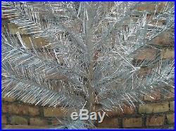 Vintage USSR 4 feet (1.22 m) silver Christmas tree box
