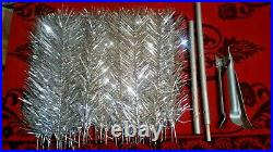 Vintage USSR artificial christmas tree. Aluminum color. 47in. Very rare