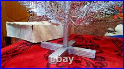 Vintage USSR artificial christmas tree. Aluminum color 47in very rare. Box