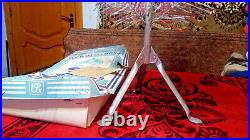 Vintage USSR artificial christmas tree. Aluminum color 47in very rare. Box! New
