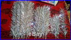 Vintage USSR artificial christmas tree. Aluminum color. 51in. Very rare