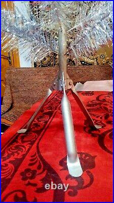 Vintage USSR artificial christmas tree. Aluminum color 55in very rare