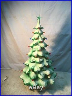 Vintage Union Hard Plastic Lighted Christmas Tree Blow Mold 20 Tall