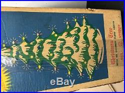 Vintage Union Products Blow Mold Christmas Tree Glow Lights 1950's Decorations