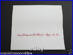 Vintage Unused CA Artist Tyrus Wong Xmas Greeting Card Bringing Home the Tree
