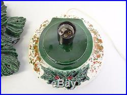Vintage Used 1981 Electric Ceramic Christmas Tree Light Up Decorative Light