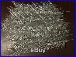 Vintage Ussr Aluminum Christmas Tree 6 1/2 Ft. Original Box