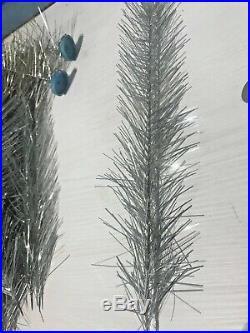 Vintage Ussr Aluminum Silver Glow Christmas Tree 4 1/2 Ft