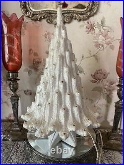 Vintage Volcano LAVA Pearl Ceramic CHRISTMAS TREE Works