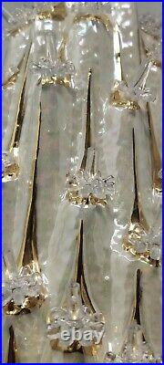 Vintage Volcano Lava Irredescent White and Gold Ceramic Christmas Tree