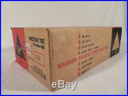 Vintage Warren Plastic 48 Christmas Tree with Stand Complete with Box HTF