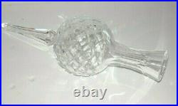 Vintage Waterford Ireland Crystal Christmas Tree Topper waterford Etching EUC