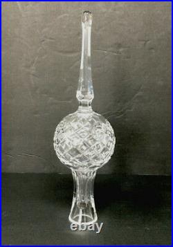 Vintage Waterford Tree Topper Cut Crystal Sparkly Christmas Finial Ireland EUC