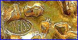Vintage Weiss Multicolor Rhinestone Widely Copied Xmas Tree Brooch Pin