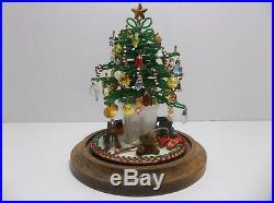 Vintage Westrim Mini Glass Beaded CHRISTMAS TREE Glass Dome COMPLETE
