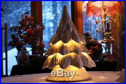 Vintage White Ceramic Christmas Tree Lamp 17 H