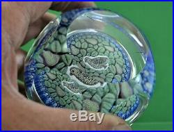 Vintage Whitefriars Christmas 1979 Partridge in a Pear tree Paperweight Signed