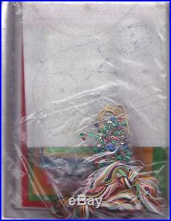 Vintage Winnie and Christmas Tree Disney Pooh Felt Stocking Kit Bucilla NIP
