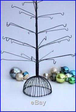 Vintage Wire Metal Christmas Tree Ornament Display NOS
