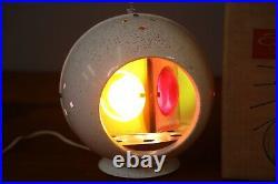 Vintage Wonder RAINBO LITE Revolving Aluminum Christmas Tree Light Lamp with box