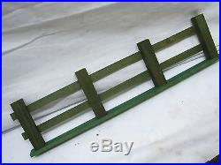 Vintage Wooden Christmas Feather Tree Fencing Set Village Toy Fence Train Wood
