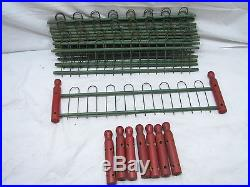 Vintage Wooden Wire Toy Doll House Fence Feather Tree Fencing Set Christmas Wood