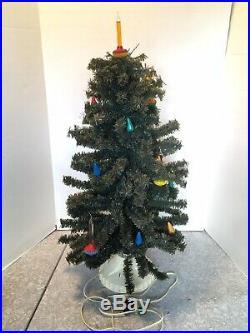 Vintage Working 17 Socket Visca Christmas Tree + Bubble Light C6 Holly Base Noma