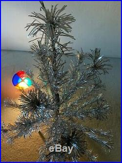 Vintage aluminum christmas tree and color wheel