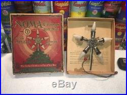 Vintage electric Antique NOMA Christmas Tree STAR topper Mazda Lamps ca. 1924