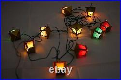 Vintage lantern decoration, Christmas tree lights from Czechoslovakia 1970