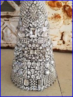 Vintage rHiNesToNe jewelry lot Christmas Tree Old earrings brooch necklace