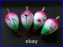 Vintage set of 18 Chinese Lantern 16v BULBS/LAMPS Christmas Lights TESTED
