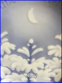 Vintage1896 Bing & Grondahl Christmas Plate'New Moon Over Snow-Covered Trees