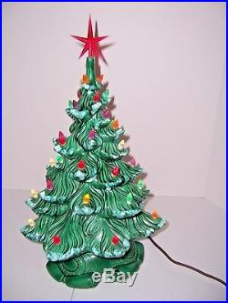 Vntg Ceramic Christmas Tree 19 45+ Multi-Colored Lights Musical Atlantic Mold