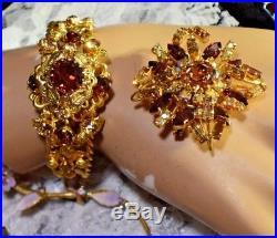 Vntg Lot 58 Austria Brooches, Earrings, Bracelets, Fruit, Flowers, Christmas Tree 345