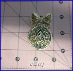 Vntg Signed Liz Claiborne Christmas Tree Ornament Enamel Rhinestone Pin Brooch