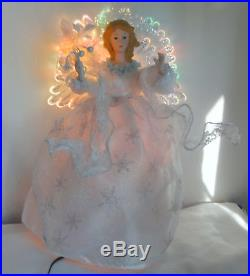 Vntg Trim The Home Holiday Fiber Optic Christmas Magical Angel Tree Topper 15