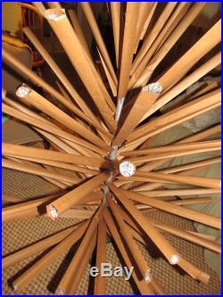 Vtg 100 Branch Pom Pom 7' Aluminum Silver Sparkler Christmas Tree Novelty Full