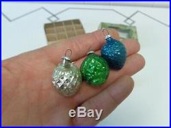 Vtg 12 Box Nut Berry Pinecone Glass Feather Tree Xmas Ornaments Japan Nos