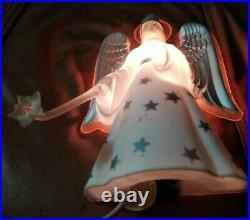 Vtg 1950 NOMA Christmas Angel Illuminated Tree Top Topper Light Halo