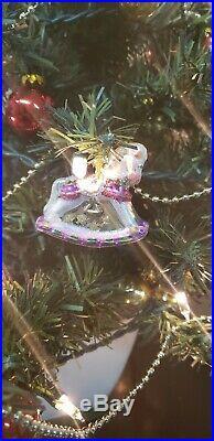 Vtg 2004 Teleflora Spode Christmas Tree 24 Tabletop with Ornaments/Lights/Box