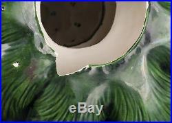 Vtg 70's Atlantic Mold 22 Ceramic Green Christmas Tree Bird Peg Light SEE VIDEO