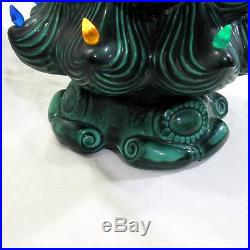 Vtg Atlantic Mold Ceramic Christmas Green Tree 24 Tall With Base Included