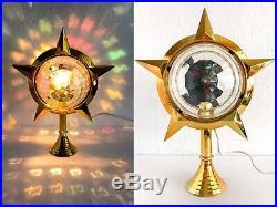 Vtg Bradford Celestial Motion Light Star Christmas Tree Topper Excellent WORKS