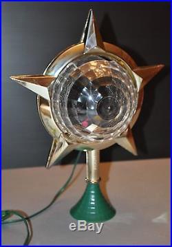 Vtg Bradford Spectacular Celestial Light Tree Top Spinner withBox Christmas