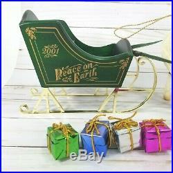 Vtg Breyer 2001 Jingles The Holiday Pony w Horse Sleigh, Christmas Tree & Gifts