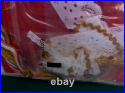 Vtg Bucilla CINDERELLA Jeweled Felt Applique Xmas Holiday Tree Ornament Kit 3584