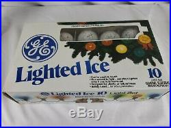 Vtg C7 GE Lot 20 Frosted Iced Ice Glo Lite Christmas Tree Sugared Lights NIB