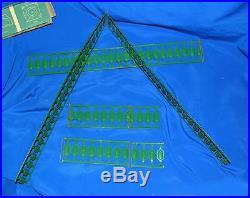 Vtg Campbell All Steel Green Folding Toy Fence Dolls House, Xmas Tree/putz Iob